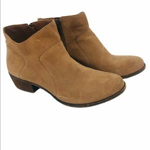 Lucky brand women's tan suede ankle boots size 10M